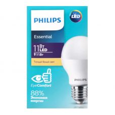 Лампа светодиодная Philips ESSENTIAL 11W E27 3000K A60 груша 929001900287/871869682208100