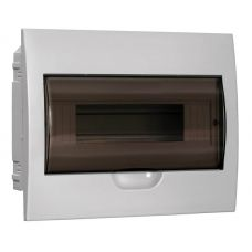 Корпус встраиваемый ЩРВ П 12, IP41, пластик, белый, прозрачная дверь, MKP12 V 12 40 10, IEK