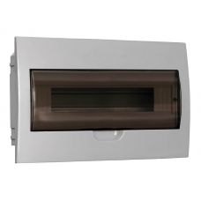 Корпус встраиваемый ЩРВ П 18, IP41, пластик, белый, прозрачная дверь, MKP12 V 18 40 10, IEK