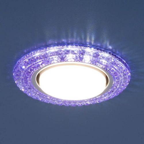 РАСПРОДАЖА Светильник точечный с LED подсветкой, 3030 GX53 VL, фиолетовый, ELEKTROSTANDARD