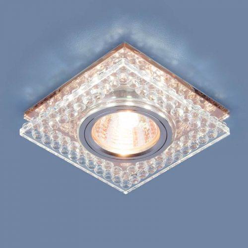 РАСПРОДАЖА Светильник точечный с LED подсветкой 8391 MR16 CL/GC, прозрачный / тонированный, ELEKTROSTANDARD