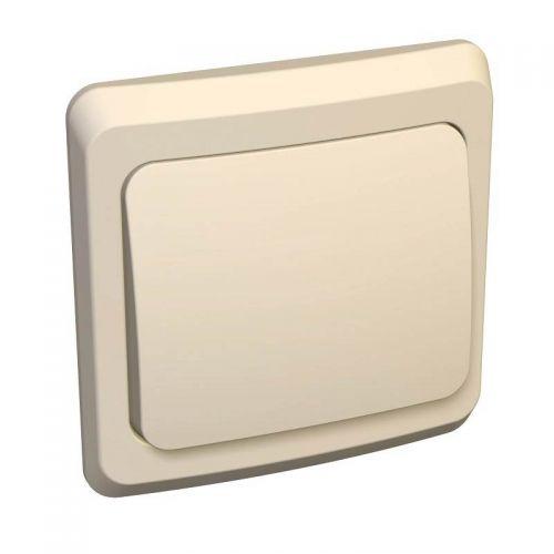 Переключатель 1 клавишный, СУ, 10 АХ, кремовый, ЭТЮД, арт. BC10 004К, Schneider Electric