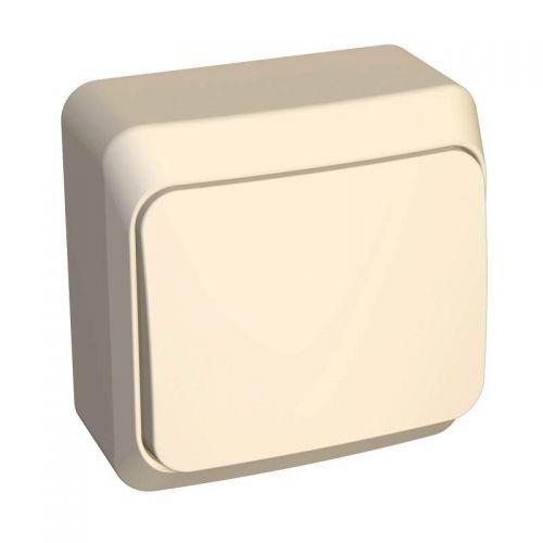 Переключатель 1 клавишный, ОУ, 10 АХ, кремовый, ЭТЮД, арт. BA10 004K, Schneider Electric