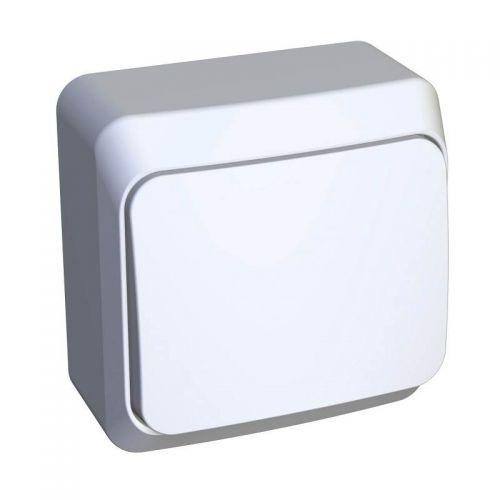 Выключатель кнопочный, ОУ, 10 АХ, белый, ЭТЮД, арт. KA10 001B, Schneider Electric