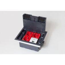 300005 Люк на 4 поста (45х45),металл/ пластик, с пластиковой коробкой, IP40