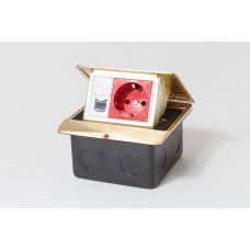 300001 Люк на 1,5 поста (45х45), латунь, с металлической коробкой, IP44
