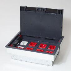 300009 Люк на 8 постов (45х45),металл/ пластик, с металлической коробкой, IP40