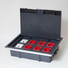 300008 Люк на 8 постов (45х45),металл/ пластик, с пластиковой коробкой, IP40