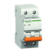Автоматический выключатель 2P, C, 63 А, ВА63 Домовой, 4.5 кА, 11219, Schneider Electric