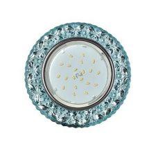 Светильник встраиваемый Ecola H4 LD7040, FB53CBEFB, GX53, искристый с подсветкой Бабочки, Голубой/Хром