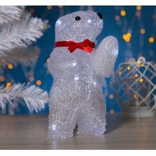 Фигура Медвежонок на батарейках из акрила, размеры 11х10х20 см, (АА*2 шт. не в компл.), 10 LED 2315208