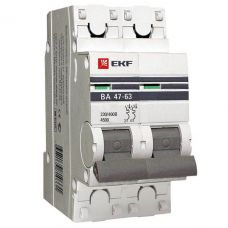 Автоматический выключатель 2P 25А (C) 4,5kA ВА 47 63 EKF PROxima mcb4763 2 25C pro