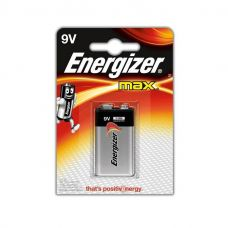 Батарейка Energizer MAX 9V Крона, 522/9V, уп/1 шт