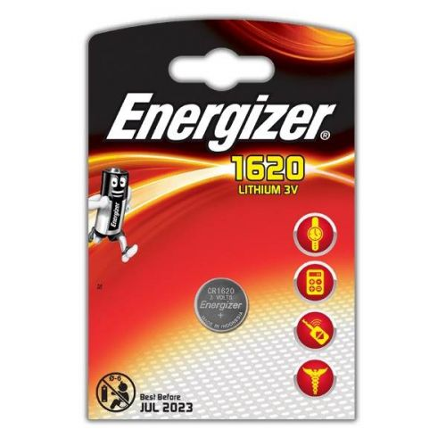 Батарейка Energizer Lithium CR1620, уп/1 шт