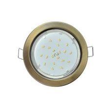 Светильник встраиваемый Ecola H4, FN53P2ECB, патрон GX53, Черненая бронза, без рефлектора, уп/2 шт