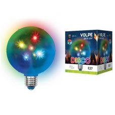 Лампа диско Volpe Disco 3D ULI Q310 1,5W/RGB/E27, 1.5W, E27, RGB, Звезды d=10см 220V