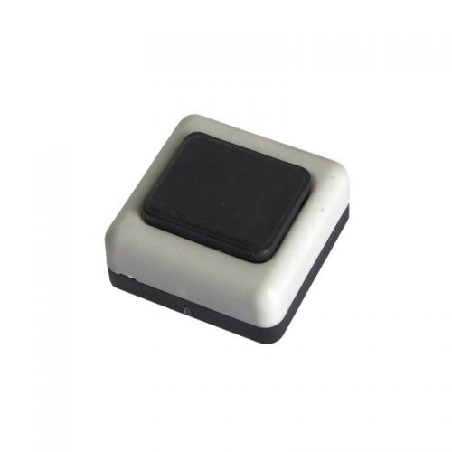 Кнопка звонковая арт. А1 0.4 001, белый корпус, черная кнопка, БелТИЗ