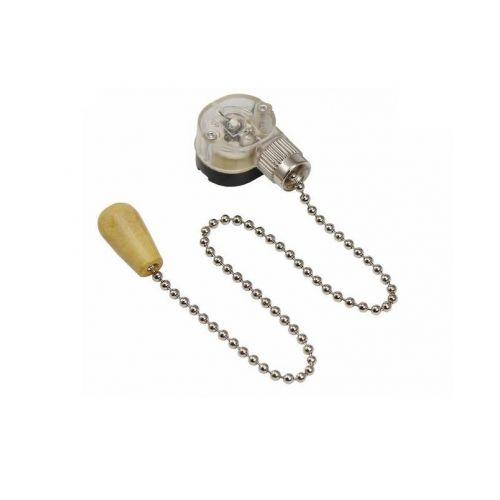 Выключатель бра на цепочке, цвет Серебро/Хром