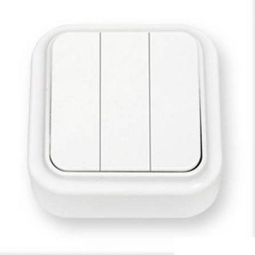 Выключатель 3 х клавишный, ОУ, белый, Пралеска, арт. А056 137, БелТИЗ