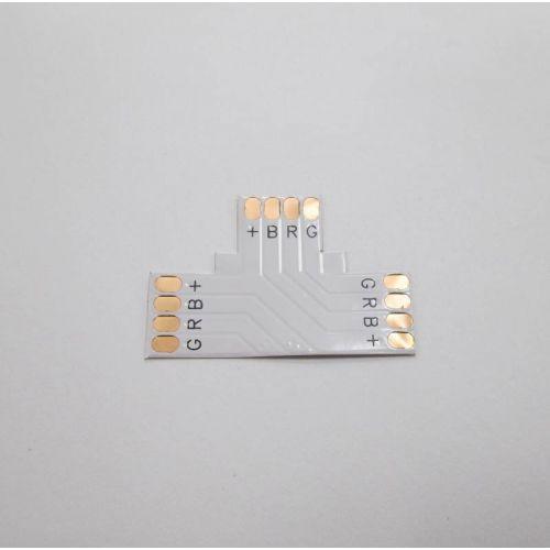 T образный коннектор (гибкая соединительная плата) для ленты RGB, 10 мм, SC41FTESB, Ecola