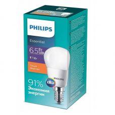 Лампа светодиодная ESSLEDLustre 6.5W (75W) E14 827 P45ND 2700К шар 929001886807 Philips