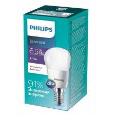 Лампа светодиодная ESSLEDLustre 6.5W (75W) E14 840 P45ND 4000К шар 929001886907 Philips