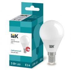 Лампа светодиодная LLE G45 3 230 40 E14 3Вт 4000К шар IEK