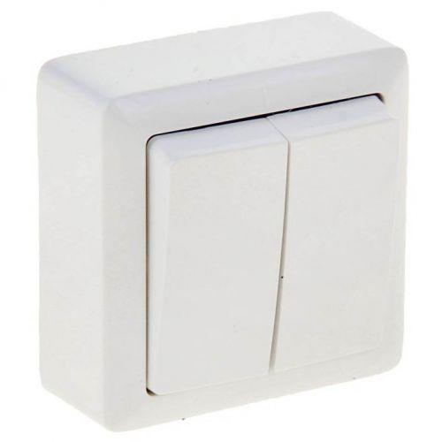 Выключатель 2 кл, ОУ, 6 А, 250 В, белый, ХИТ, арт. VA56 232 B/ВА56 232 б, Schneider Electric