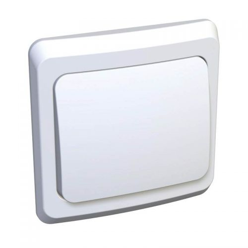 Переключатель 1 клавишный, СУ, 10 АХ, белый, ЭТЮД, арт. BC10 004B, Schneider Electric