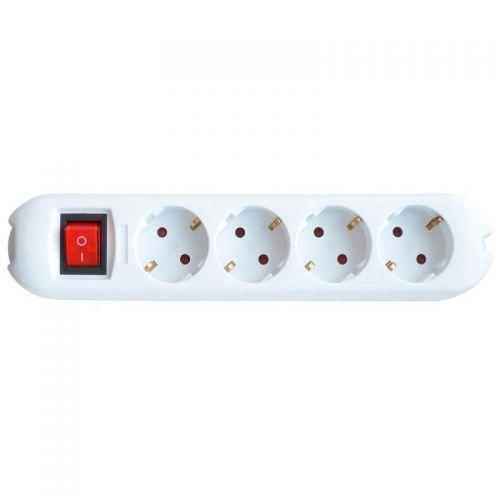 Колодка с з/к и выключателем, 4 гнезда, 16 А, 2Р+Е, 4GS SMART, арт. 4690612010496, 5440, IN HOME