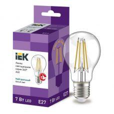 Лампа светодиодная IEK серия 360° A60 шар 7Вт 4000К E27 230В прозрачная LLF A60 7 230 40 E27 CL
