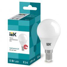 Лампа светодиодная IEK G45 шар 5Вт 4000К E14 230В 450Лм LLE G45 5 230 40 E14