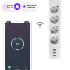 Умный удлинитель EKF Connect Wi Fi c USB, арт. RCE 1 WF