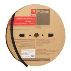 Термоусаживаемая трубка ТУТ  2/1 черная рулон EKF PROxima, tut 2 b