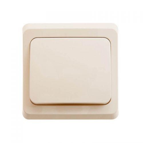 Выключатель 1 клавишный, СУ, 10 АХ, кремовый, ЭТЮД, арт. BC10 001K, Schneider Electric