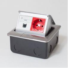 300004 Люк на 2 поста (45х45), алюминий, с металлической коробкой, IP44