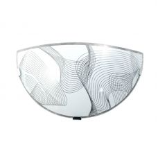 Светильник НББ 21 60 М19 Бриз 300/2, 1х60Вт, E27, IP20, глянцевый бел./кл. штамп метал., 1005205921, Элетех