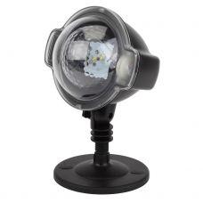 Проектор ЭРА ENIOP 03 LED Падающий снег, мультирежим холодный свет, 220V, IP44