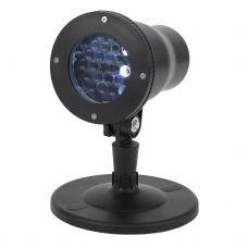 Проектор ЭРА ENIOP 04 LED Снежинки, мультирежим холодный свет, 220V, IP44