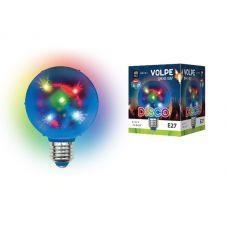 Диско шар Volpe Disco 3D ULI Q308 Звезды 1,5W/RGB/E27 d=8см 220V