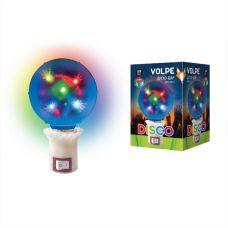 Диско шар с вилкой Volpe Disco эффект 3D ULI Q309 1,5W/RGB d=8см, 220V
