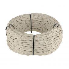 Ретро кабель витой 3х2,5 мм² (песочный)