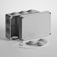Коробка распаячная для ОП 200х140х75 мм, крышка, серая, IP55, 10 входов, Tyco, арт.67055, RUVinil