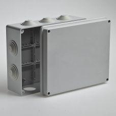 Коробка распаячная для ОП 240х195х90 мм, крышка, серая, IP55, 10 входов, Tyco, арт. 67065, RUVinil