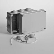 Коробка распаячная для ОП 150х110х70 мм, крышка, серая, IP55, 10 входов, Tyco, арт. 67053, RUVinil