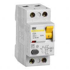 Выключатель дифференциальный (УЗО), ВД1 63, 2P, 63 A, 30 мA, MDV10 2 063 030, IEK