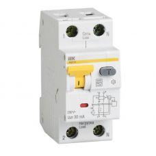 Выключатель автоматический дифференциальный АВДТ32, 1P+N, C, 6 А, 30 мА, MAD22 5 006 C 30, IEK
