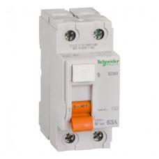Выключатель дифференциальный (УЗО), ВД63 Домовой, 2P, 63 А, 30 mA, 11455, Schneider Electric