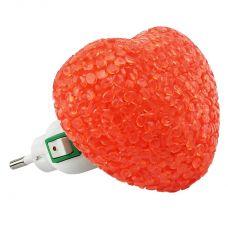 Ночник светодиодный NLA 10 HR СЕРДЦЕ красное с выключателем, 230В, IN HOME