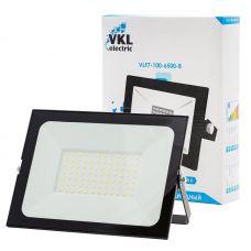 Прожектор светодиодный VKL electric VLF7 100 6500 В черный 100Вт 6500К 9000 лм IP65 арт. 1013404